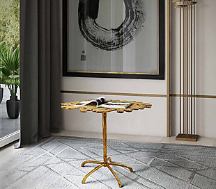 Freesia Gold Side Table, , rollover