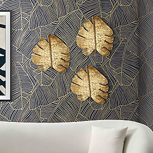 Gold Leaf Wall Art (Set of 3), , rollover