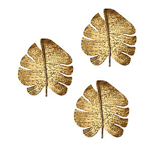 Gold Leaf Wall Art (Set of 3), , large