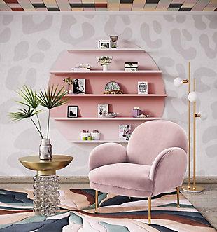 Gwen Mauve Velvet Chair, Pink, rollover