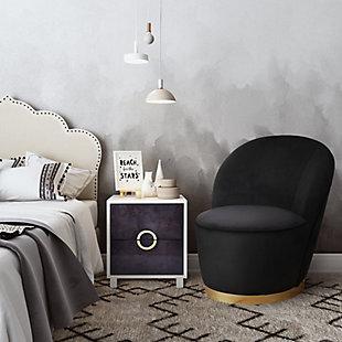 Julia Black Velvet Junior Chair, Black, rollover