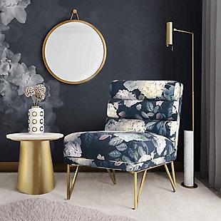 Kelly Slub Gray Velvet Chair, Black, rollover