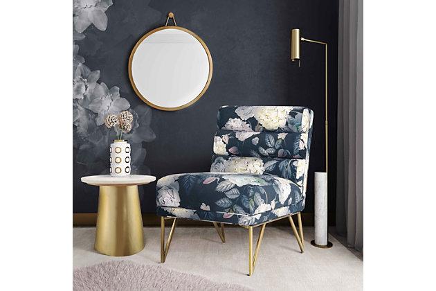 Kelly Floral Velvet Chair, Multi, large