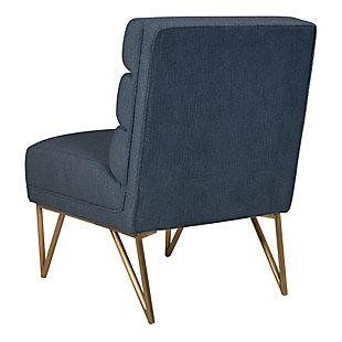 Kelly Slub Blue Velvet Chair, Blue, large