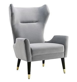 Logan Gray Velvet Chair, Gray, large