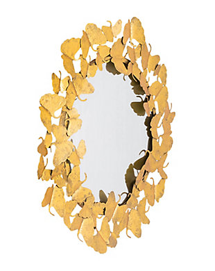 "Lyrical 27"" Butterfly Mirror, , large"