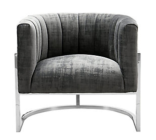 Magnolia Gray Velvet Chair, Gray, large