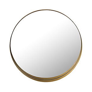 Rella  Brass Framed Round  Mirror, , large