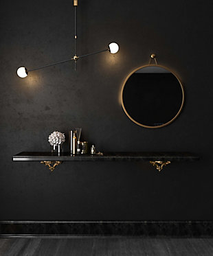 Rowan  Brass Mirror, , rollover
