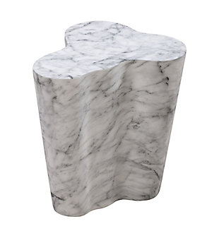 Slab  Marble Short Side Table, , large