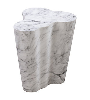 Slab  Marble Tall Side Table, , large