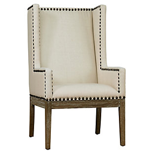 Tribeca  Beige Linen Chair, , large