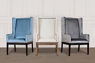 Tribeca  Gray Velvet Chair, Gray, rollover