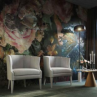 Turin Gray Velvet Chair, Gray, rollover