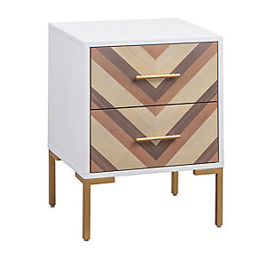 Quinn  White Side Table, , large