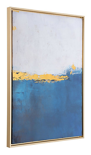 "Zuo Azure Blue 27"" x 38"" Canvas, , rollover"