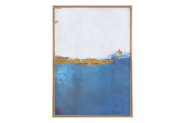"Zuo Azure Blue 27"" X 38"" Canvas, , large"