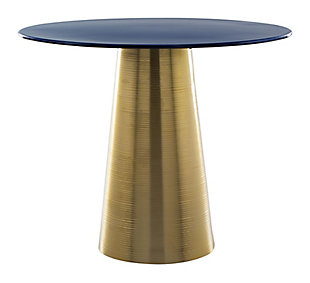 Zuo Reo Blue and Gold Side Table, , rollover