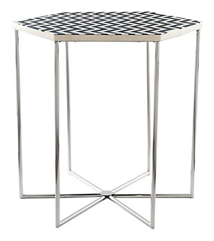 Zuo Forma Black and White Side Table, , rollover
