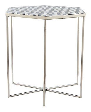 Zuo Forma Black and White Side Table, , large