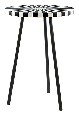 Zuo Flare Black and White Side Table, , rollover