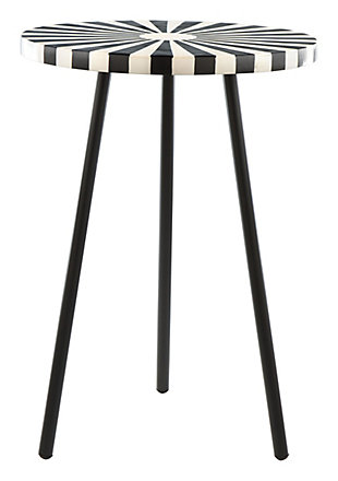 Zuo Flare Black and White Side Table, , large