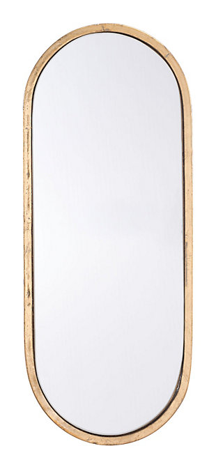 "Zuo Oval Gold 8"" x 19"" Mirror, , large"
