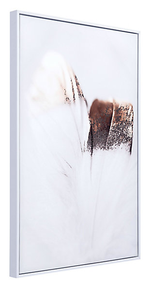 "Zuo Delicate Feather 24"" x 36"" Multicolor Canvas, , rollover"