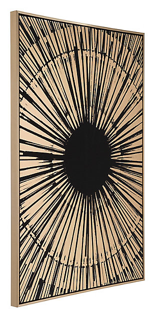 "Zuo Gold Sunburst 33"" x 48"" Black and Gold Canvas, , rollover"