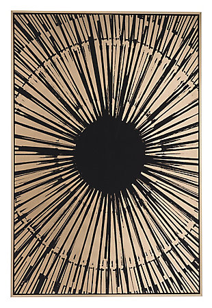 "Zuo Gold Sunburst 33"" x 48"" Black and Gold Canvas, , large"
