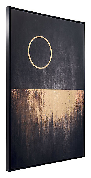"Zuo Full Moon Rises 32"" x 48"" Black and Gold Canvas, , rollover"