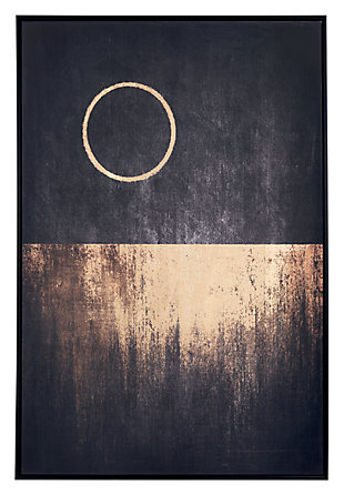 "Zuo Full Moon Rises 32"" x 48"" Black and Gold Canvas, , large"