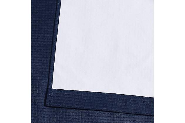 Home Accents Truly Blackout Navy Window Panel Pair, Navy, large