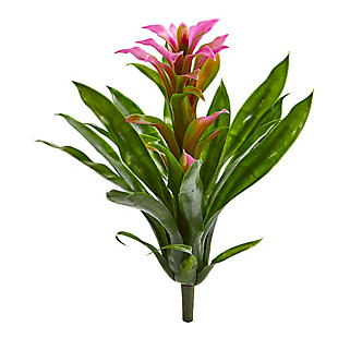 """Nearly Natural  15"""" Bromeliad Artificial Flower (Set of 4), , large"""