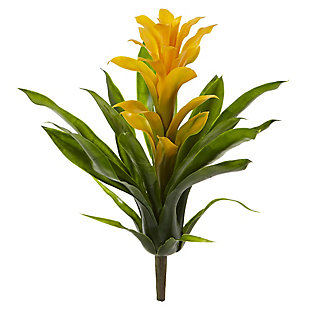 "Nearly Natural  15"" Bromeliad Artificial Flower (Set of 4), , large"