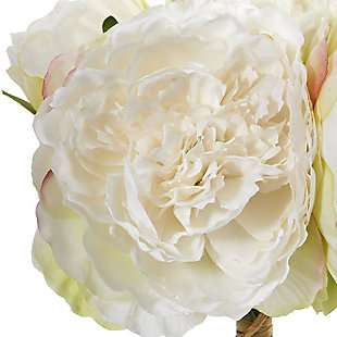 Nearly Natural  Peony Bouquet Artificial Flower (Set of 6), , rollover