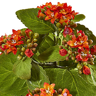 """Nearly Natural  8"""" Kalanchoe Artificial Bush Flower (Set of 6), , rollover"""