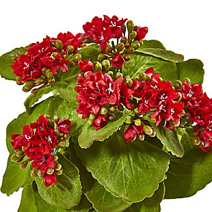 "Nearly Natural  8"" Kalanchoe Artificial Bush Flower (Set of 6), , rollover"