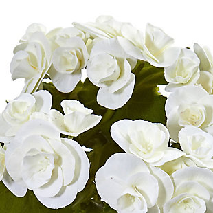 "Nearly Natural  11"" Begonia Bush Artificial Flower (Set of 4), , rollover"