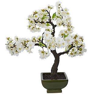 Nearly Natural  Cherry Blossom Bonsai Artificial Tree, , large