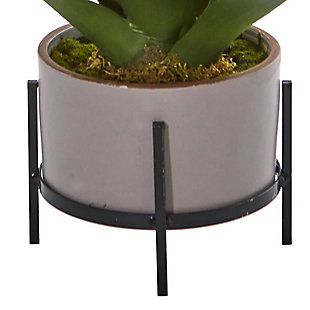"Nearly Natural  14"" Agave Succulent in Decorative Planter, , rollover"