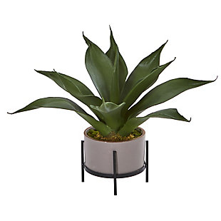"Nearly Natural  14"" Agave Succulent in Decorative Planter, , large"