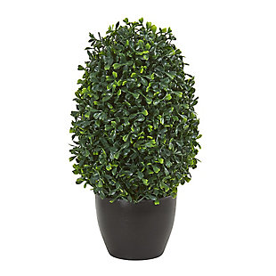 "Nearly Natural  13"" Boxwood Topiary Artificial Plant UV Resistant (Indoor/Outdoor), , large"