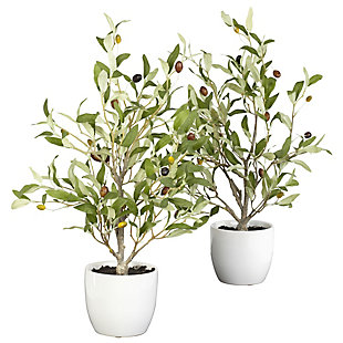 "Nearly Natural  18"" Olive Tree w/Vase (Set of 2), , large"