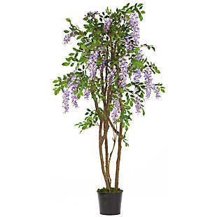 Nearly Natural  5' Wisteria Silk Tree, , large
