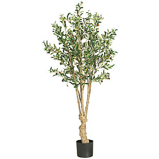 Nearly Natural  5' Olive Silk Tree, , large
