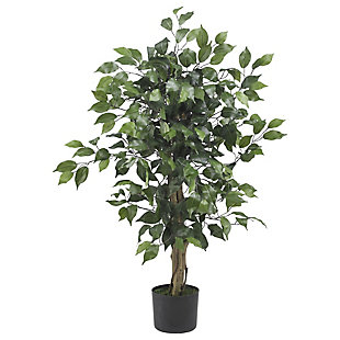 Nearly Natural  3' Ficus Silk Tree, , large