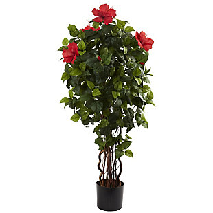 Nearly Natural  4' Hibiscus Tree, , large