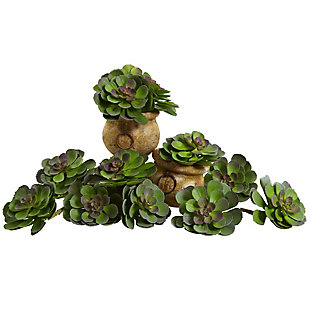 """Nearly Natural  6"""" Echeveria Succulent (Set of 12), , large"""