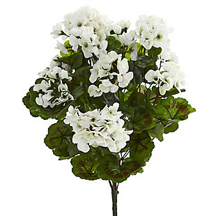 Nearly Natural  Geranium Artificial Bush UV Resistant (Set of 3), , large